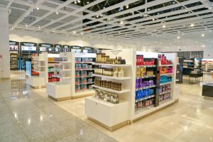 MOSCOW, RUSSIA - CIRCA JULY, 2018: interior shot of a store in Sheremetyevo International Airport